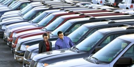 People on Dealership Lot-1