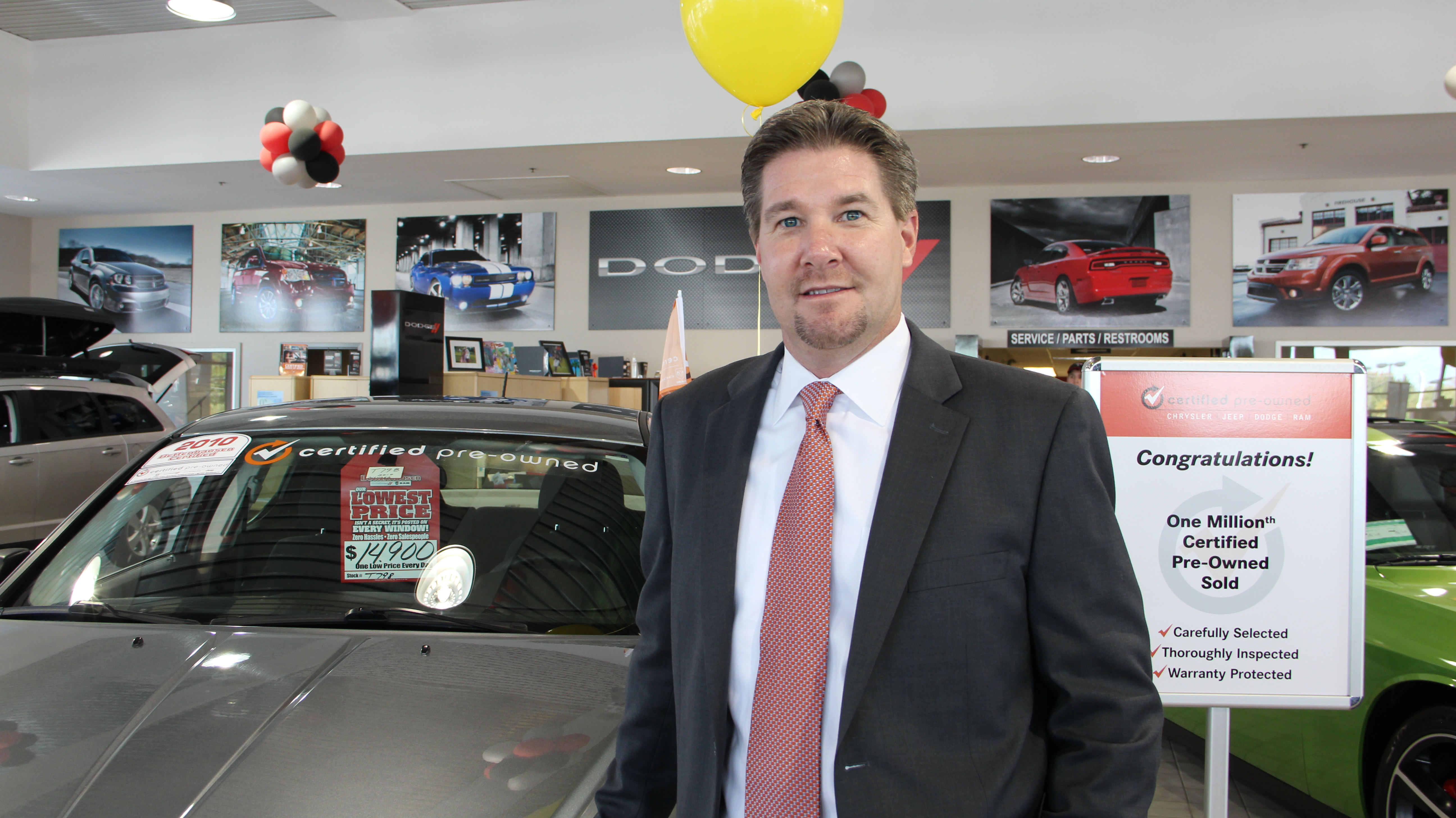 1 millionth chrysler group certified pre owned vehicle by dealer mike bettenhausen s bettenhausen motor s in tinley park ill near chicago the one millionth chrysler group certified pre owned vehicle