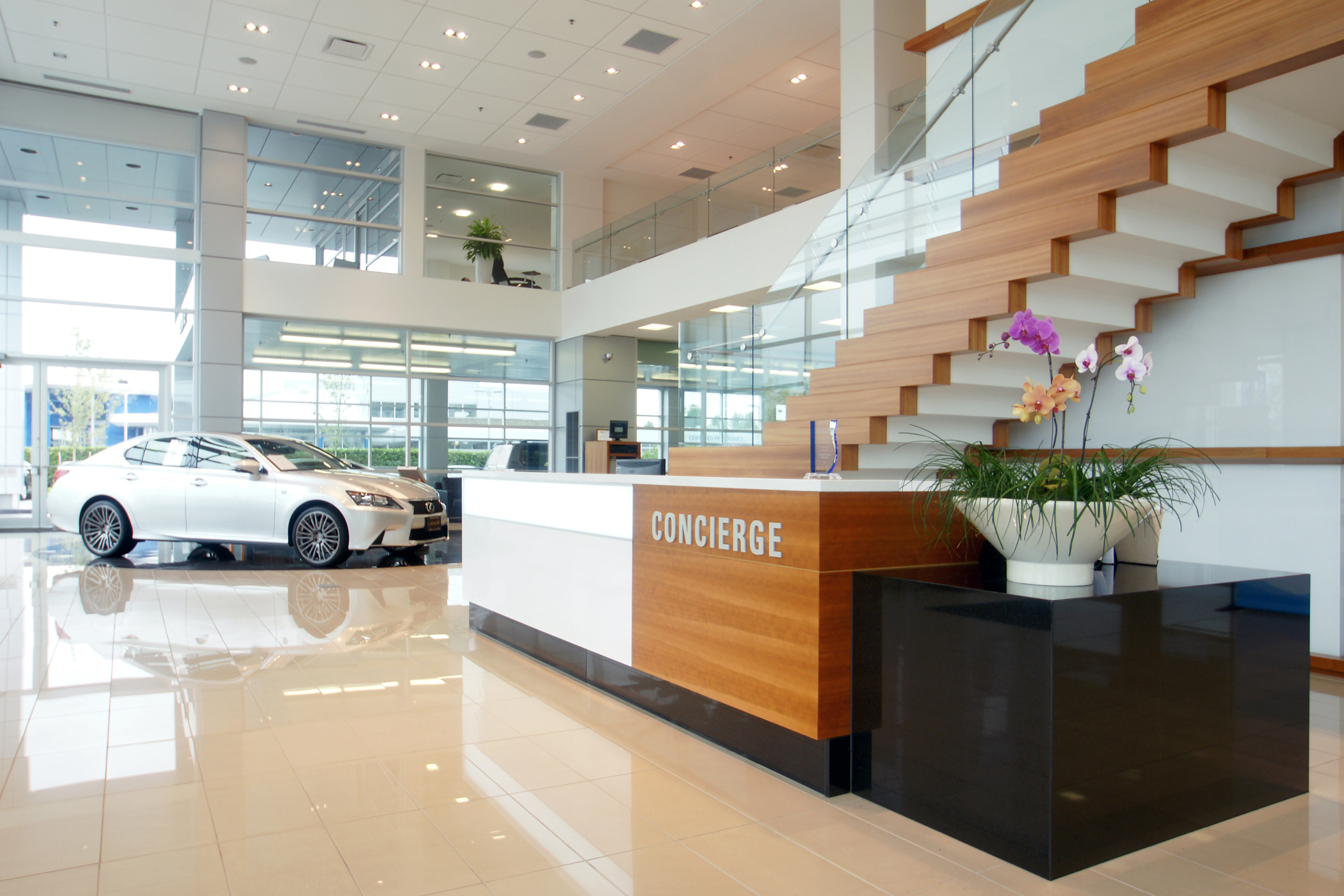 Subtle Plantings Drive High Design At Lexus Car Dealership Digital