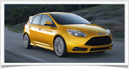2013 Ford Focus ST Yellow Car