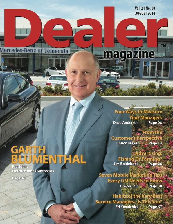 Interview with garth blumenthal gm of fletcher jones for Cover jones motor company